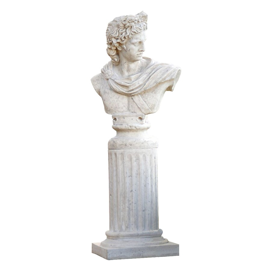 Design Toscano Apollo Belvedere Bust On Roman Plinth Garden Statue