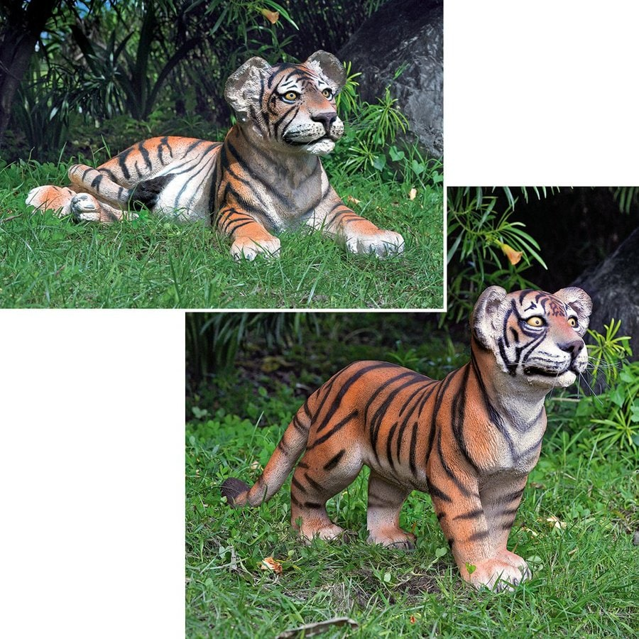 Design Toscano Grand Scale Tiger Cubs Animal Garden Statue