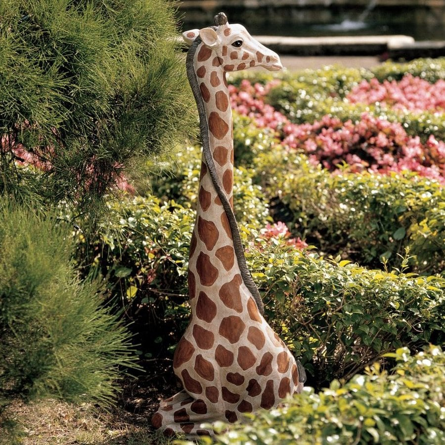 Design Toscano Gigi The Garden Giraffe 43.5 In Animal Garden Statue