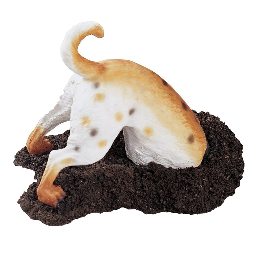 Design Toscano Terrance The Terrier Digging Dog 11-in Animal Garden Statue
