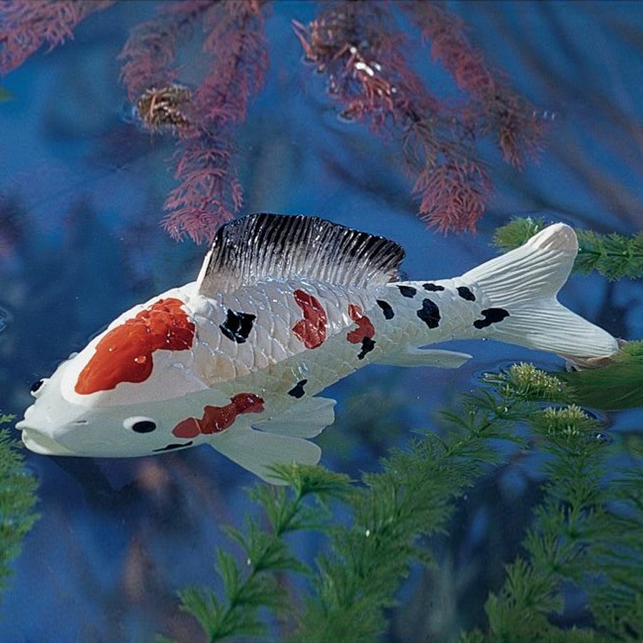 Shop design toscano japanese floating koi 4 5 in animal for Koi pond kits lowes