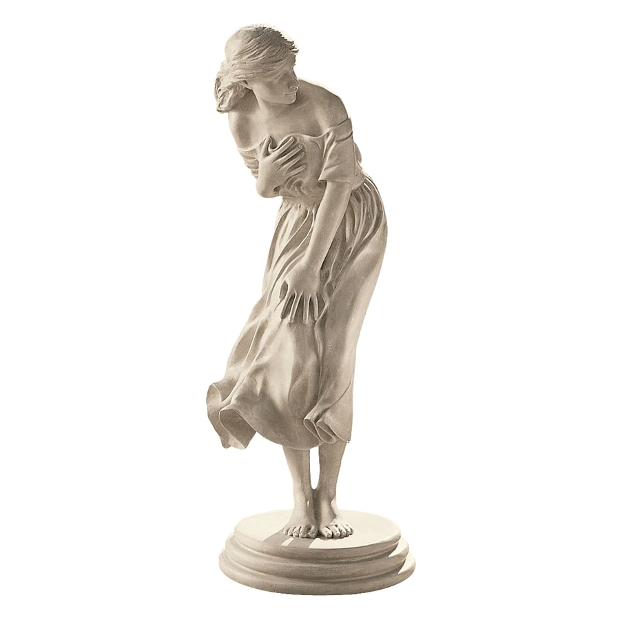 Design Toscano Windblown Sculpture 34.5-in Garden Statue