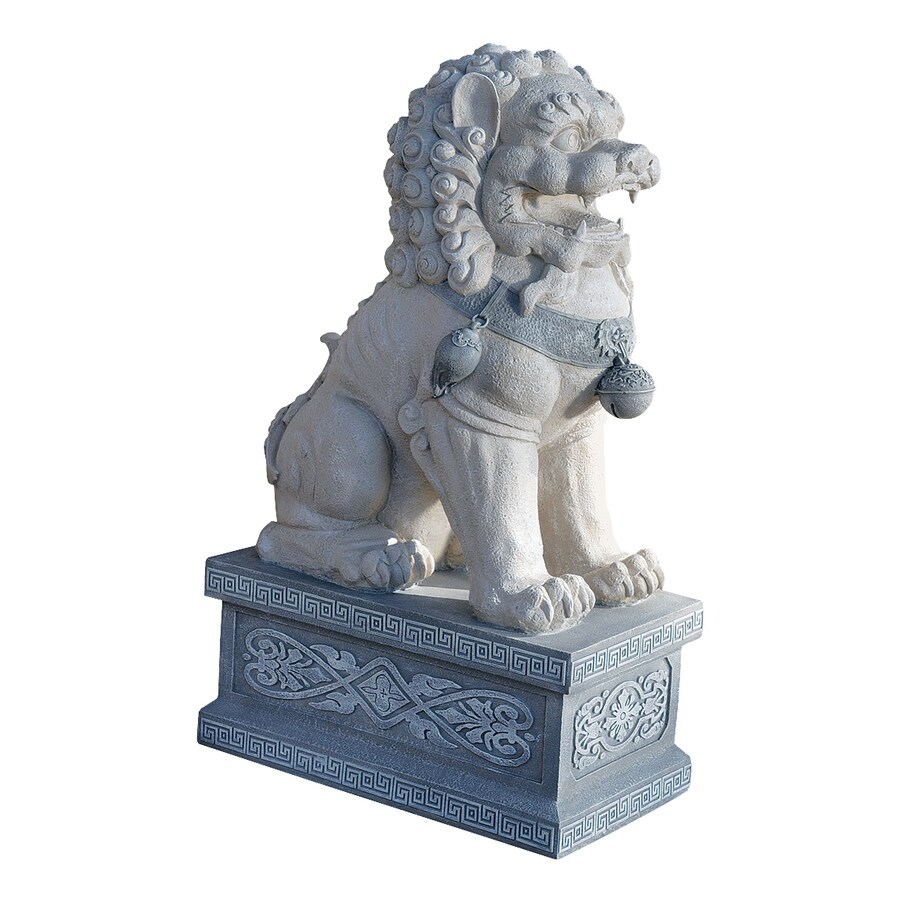 Design Toscano Giant Foo Dog Of The Forbidden City 30-in Animal Garden Statue