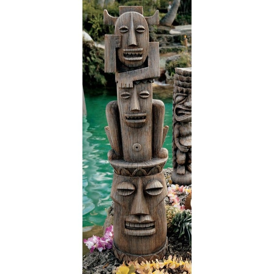 Design Toscano Gods Of The Three Pleasures  35.5-in Tiki Garden Statue