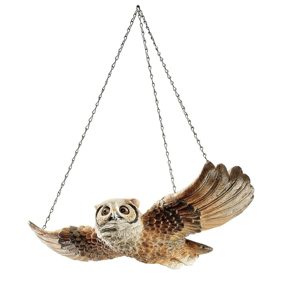 Design Toscano Hanging Garden Owl 3.5-in Animal Garden Statue
