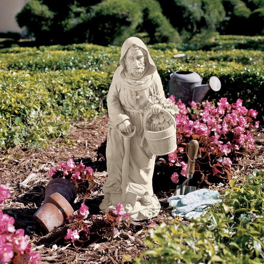 Design Toscano Saint Fiacre The Gardener's Patron 24.5-in Religion Garden Statue