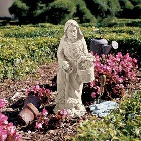 Design Toscano Saint Fiacre The Gardeneru0027s Patron 24.5 In Religion Garden  Statue
