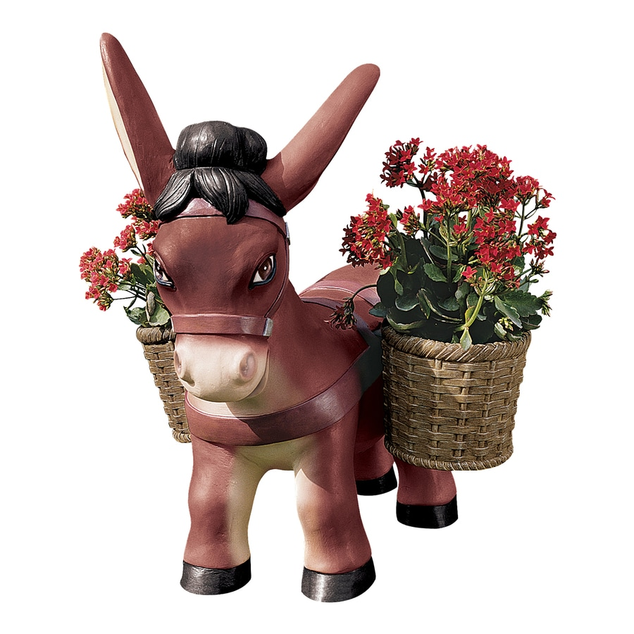 Design Toscano Pancho The Burro Planter 22.5-in Animal Garden Statue