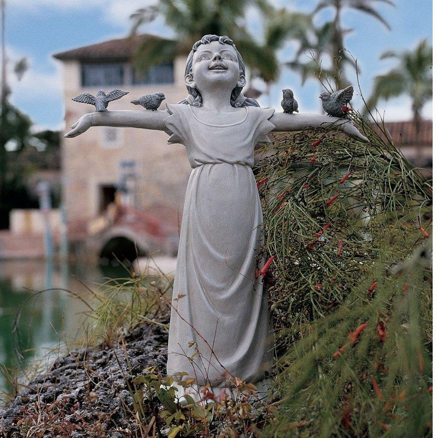 Design Toscano Basking In God's Glory 18-in Children Garden Statue