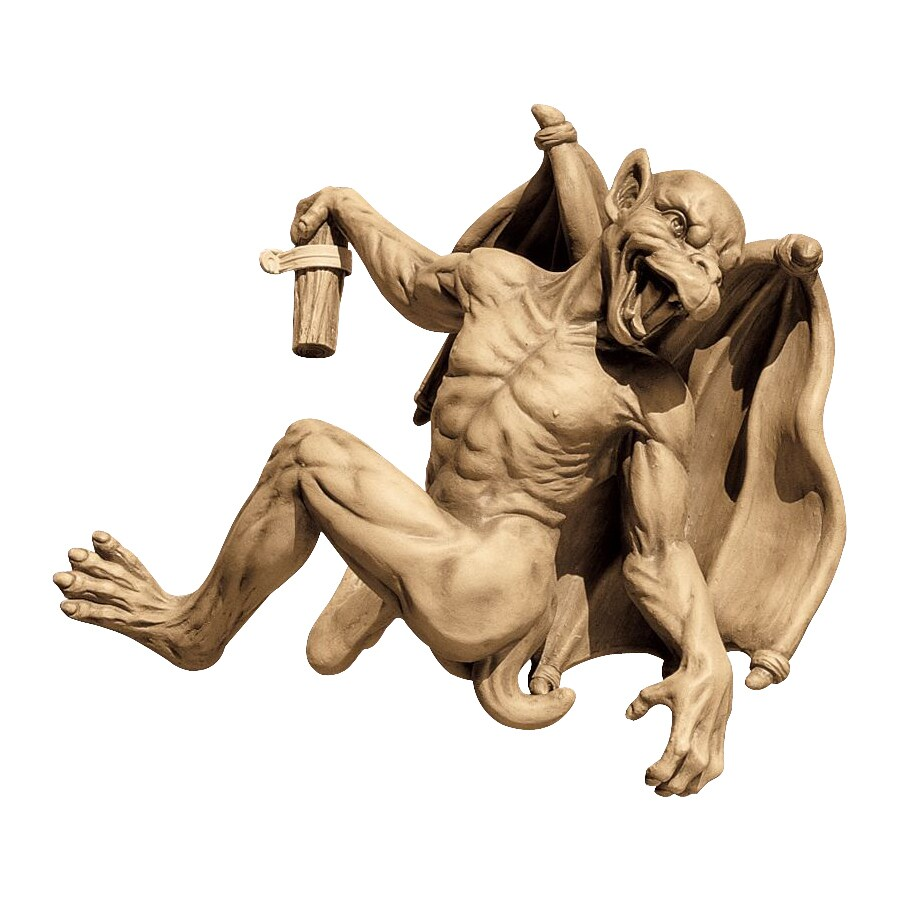 Design Toscano Gaston Gothic Gargoyle Climber 13-in Garden Statue