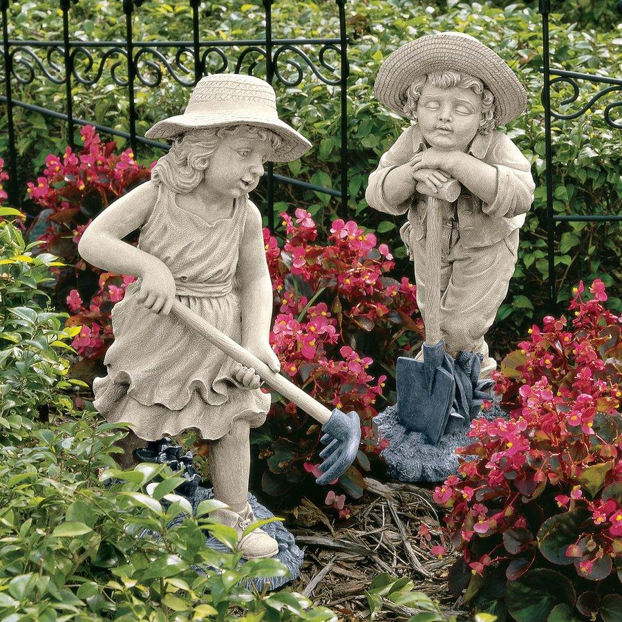 Shop Design Toscano Young Gardeners 21 5 In Children Garden Statue At