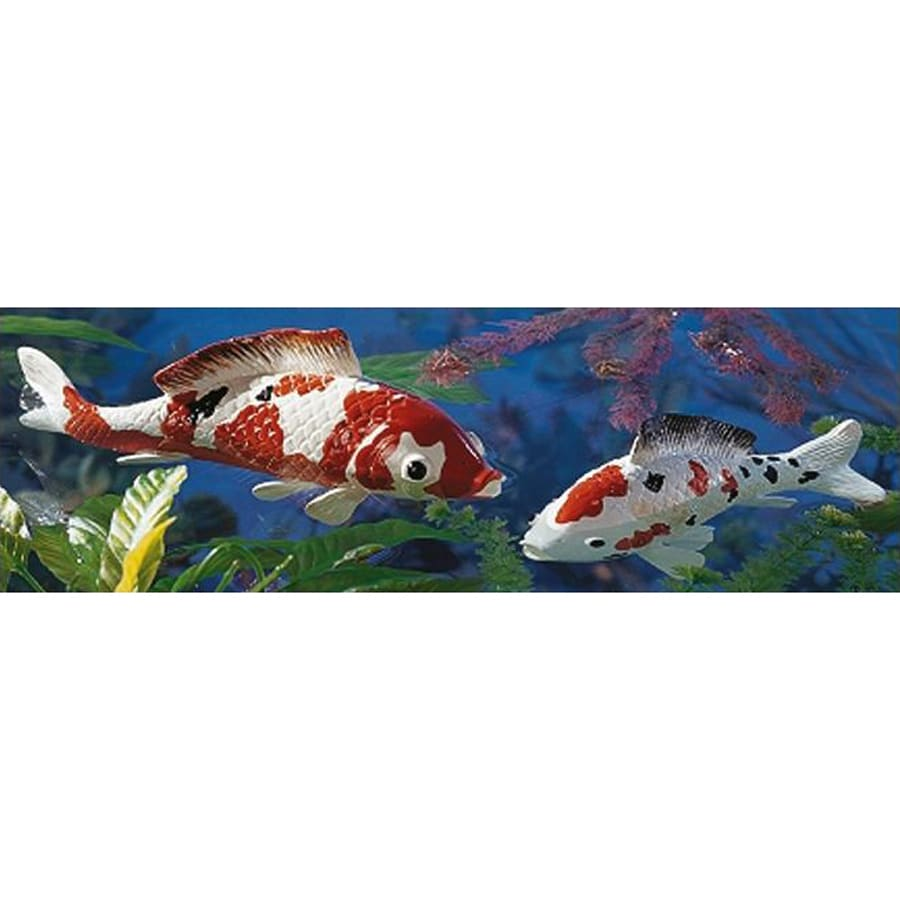 Shop design toscano japanese floating koi animal garden for Koi fish ornament