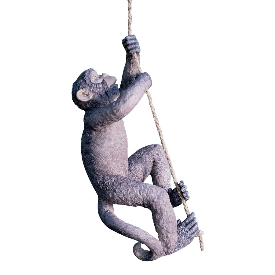 Design Toscano Makokou The Climbing Monkey 20-in Animal Garden Statue