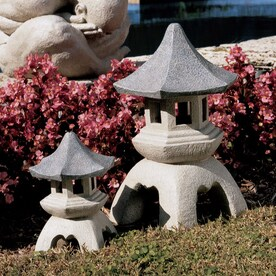 Design Toscano Set Of 2 Asian Pagoda Architecture 17.5 In Garden Statues