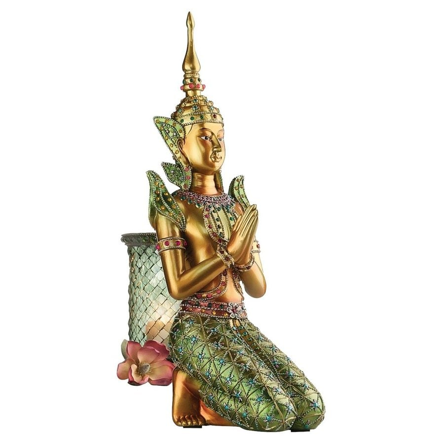 Design Toscano Bodhisattva Bestowing Blessings 13.5-in Religion Garden Statue
