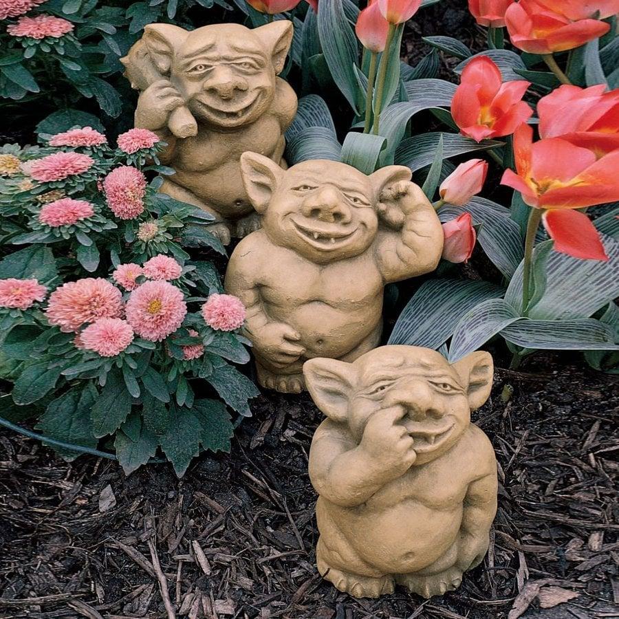Design Toscano Picc-A-Dilly Gargoyles 8-in Goblin Garden Statue