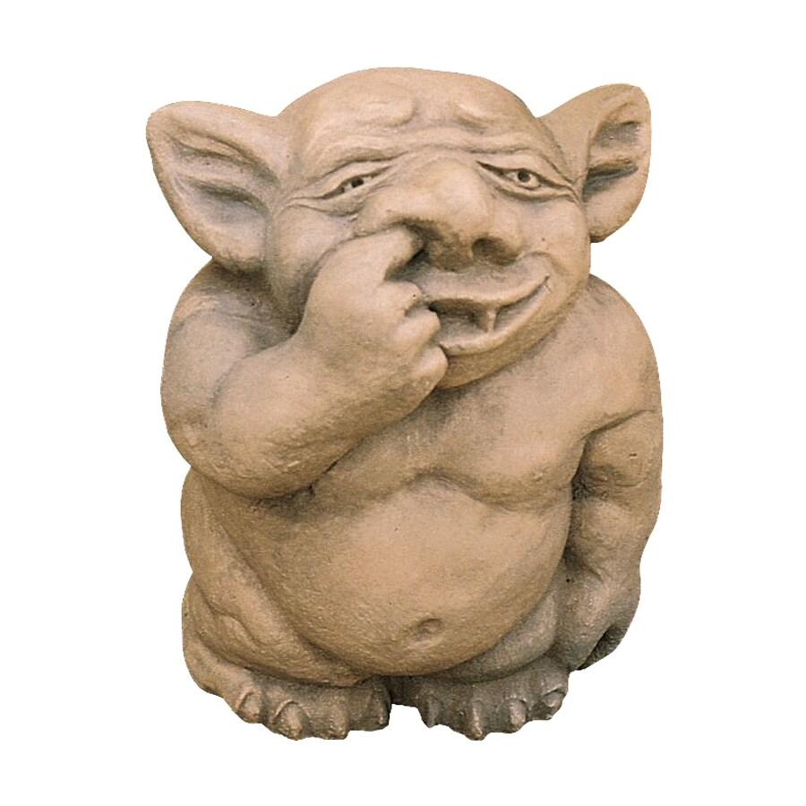 Design Toscano Picc-A-Dilly Nose Gargoyle 15-in Goblin Garden Statue