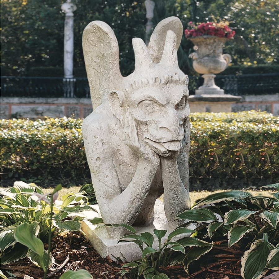 Shop design toscano spitting gargoyle of notre dame 36 in for Gargoyle decor