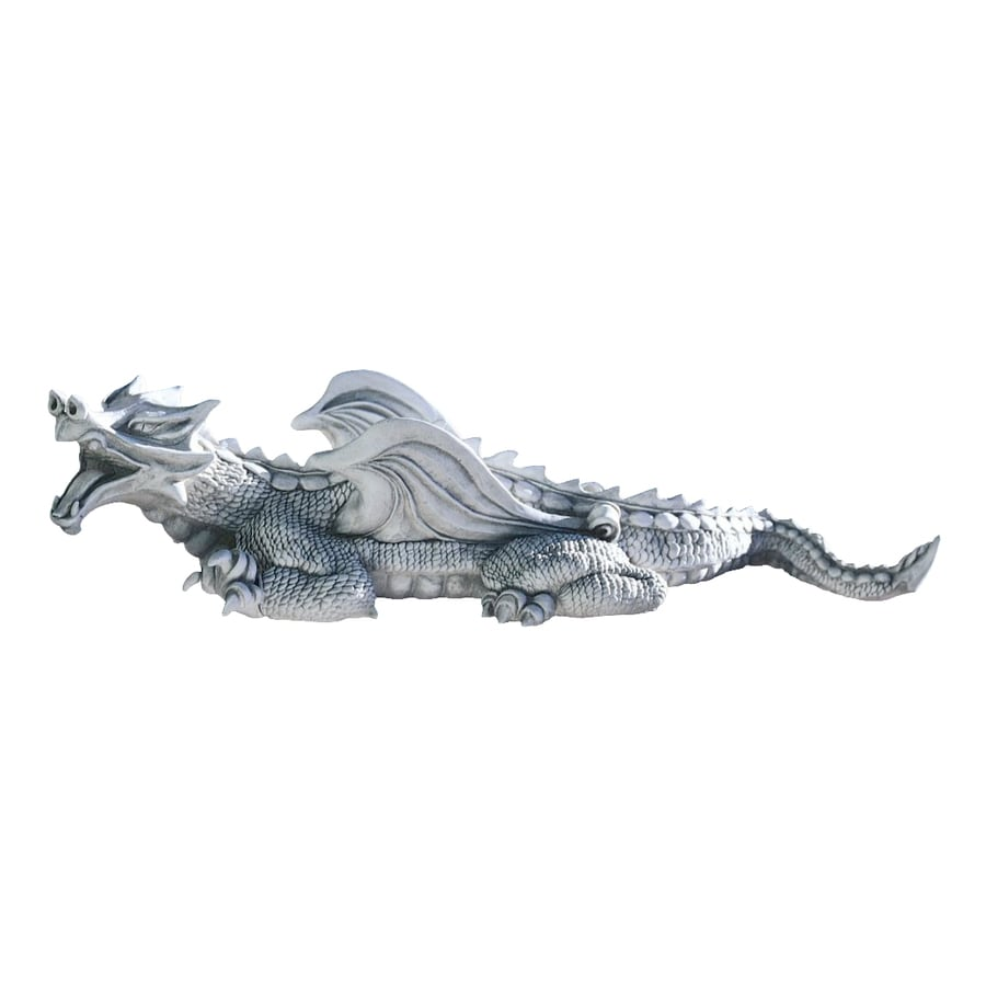 Design Toscano Warsin Dragon 23-in Garden Statue