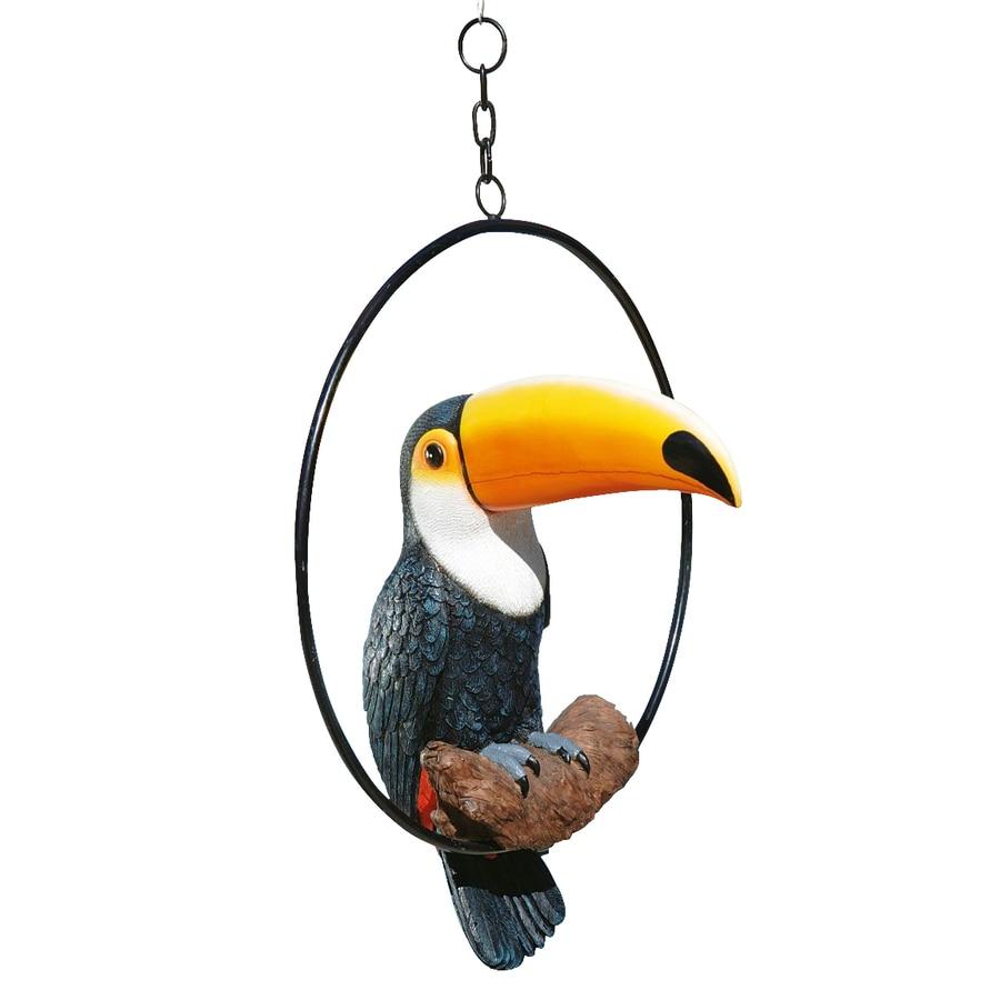 Design Toscano Touco The Tropical Toucan On Ring Perch 18.5-in Animal Garden Statue
