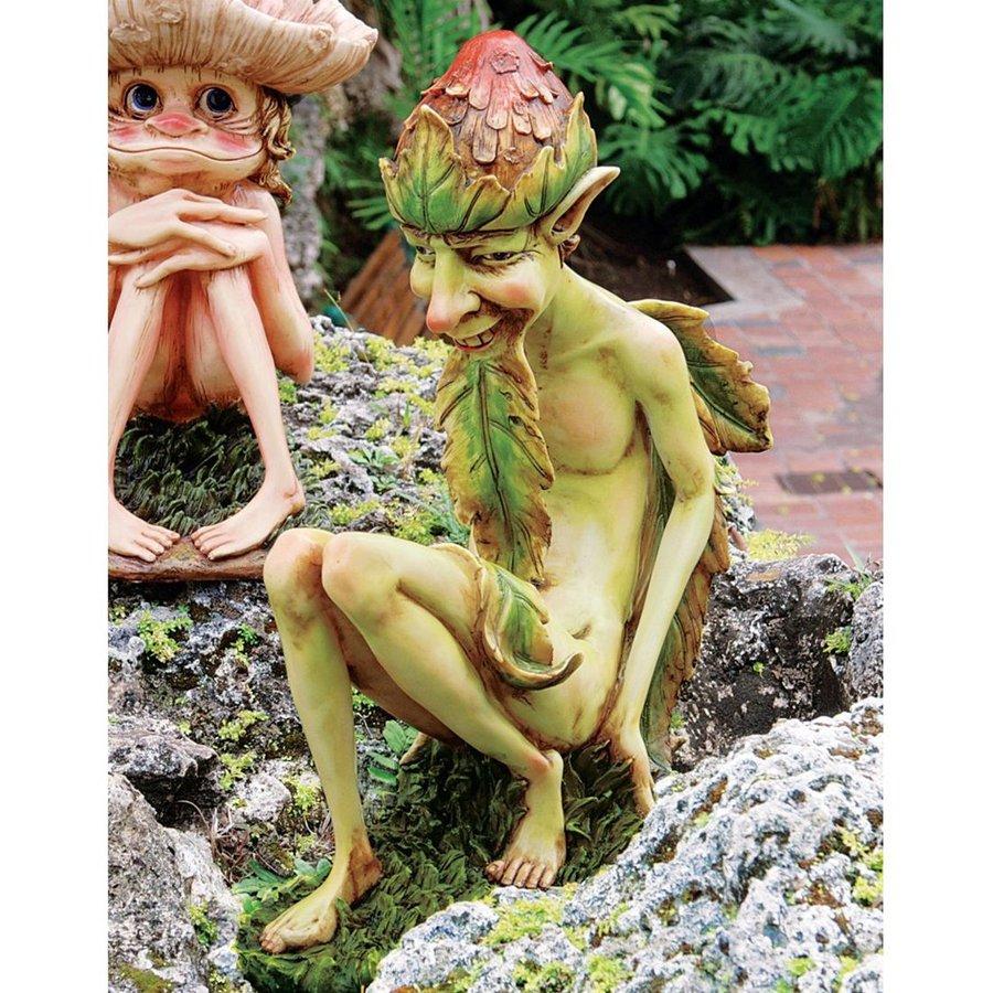 Design Toscano Theodore The Garden Troll 16-in Goblin Garden Statue