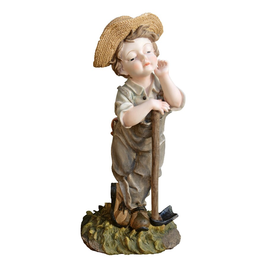 Design Toscano Farmer Frank 20-in Children Garden Statue