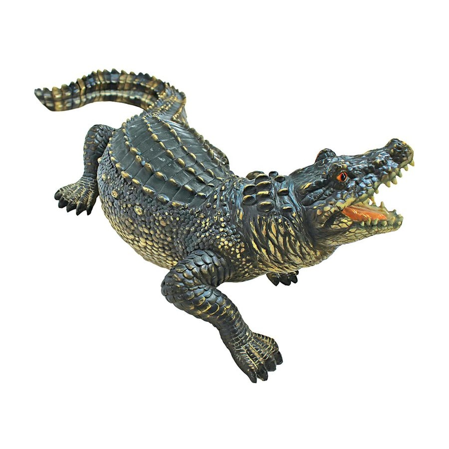 Design Toscano Agitated Alligator 9-in Animal Garden Statue