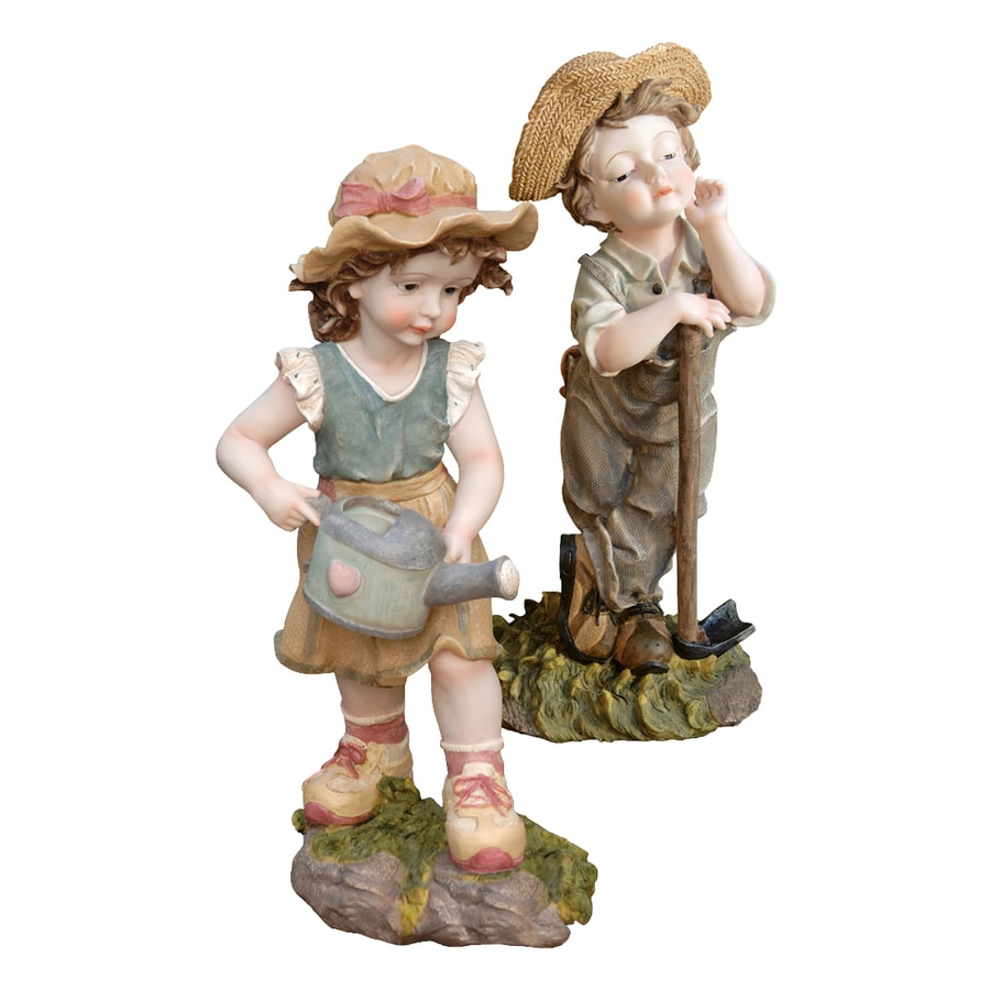 Shop Design Toscano Fanny and Frank Farmer Children Garden Statue