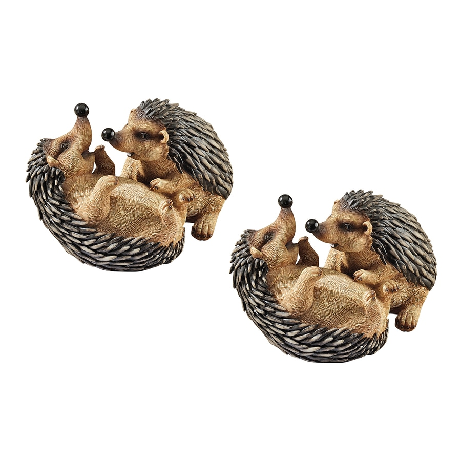 Design Toscano Hyper Hedgehogs 5.5-in Animal Garden Statue