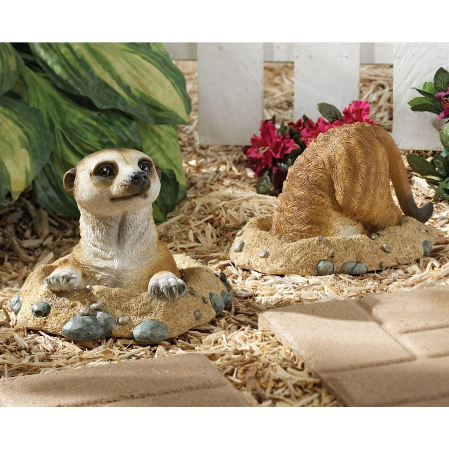 Design Toscano Kalahari Meerkats 6.5-in Animal Garden Statue