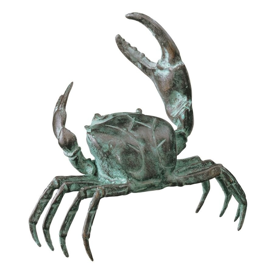 Design Toscano Bronze Crab 4.5-in Animal Garden Statue