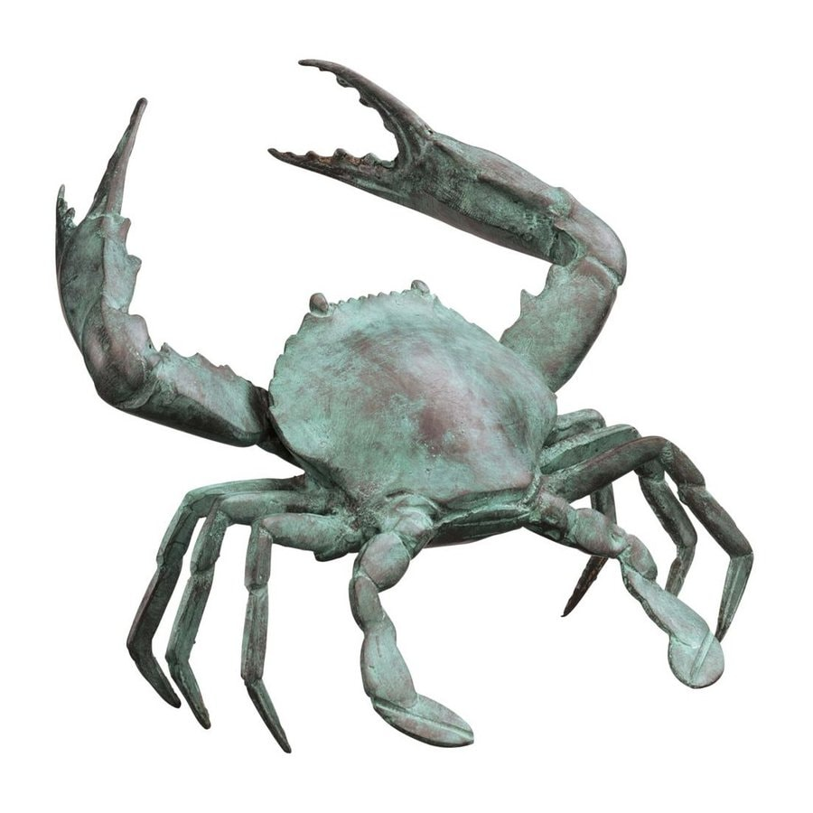 Design Toscano Bronze Crab 7-in Animal Garden Statue