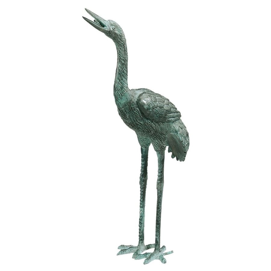 Design Toscano Straight Neck Crane 23-in Animal Garden Statue