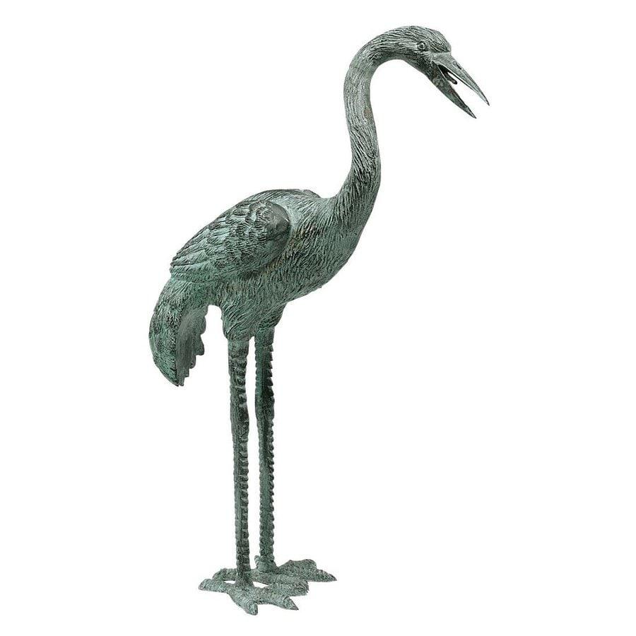 Design Toscano Curved Neck Crane 20-in Animal Garden Statue