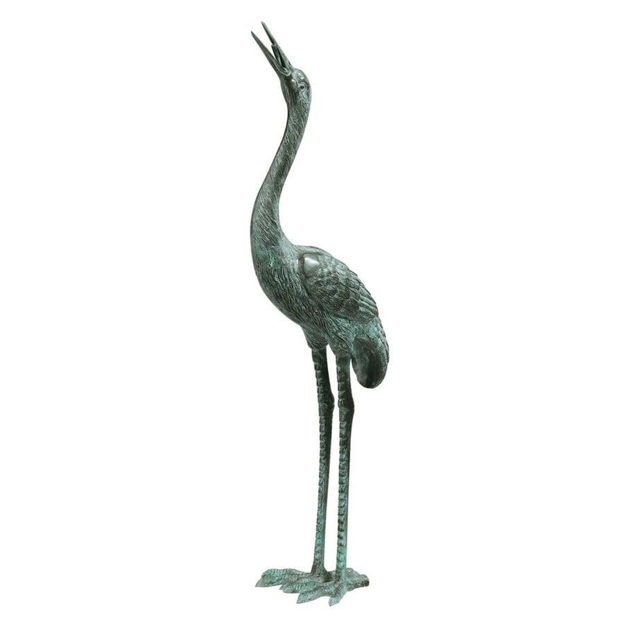 Design Toscano Straight Neck Crane 30-in Animal Garden Statue