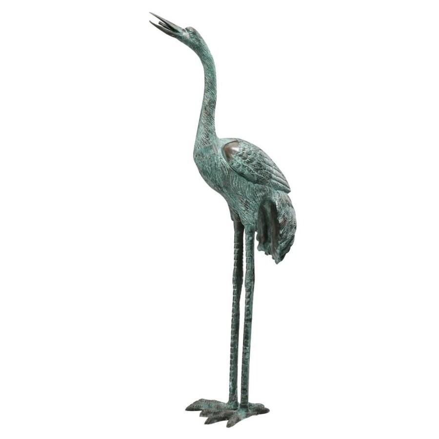 Design Toscano Straight Neck Crane 43-in Animal Garden Statue