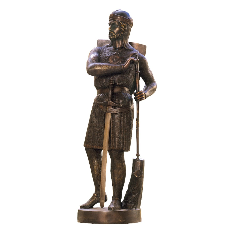 Design Toscano 13Th Century Medieval Warrior 43-in Garden Statue