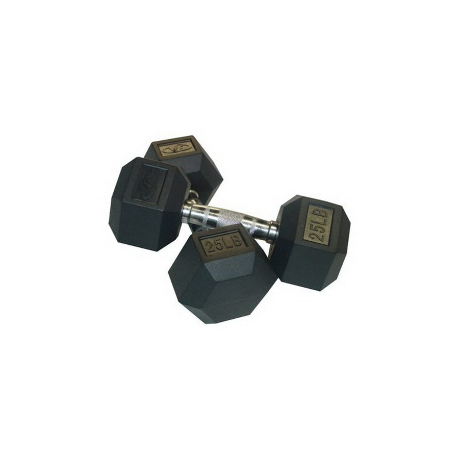 Valor Fitness 50-lb Fixed-Weight Dumbbell Set