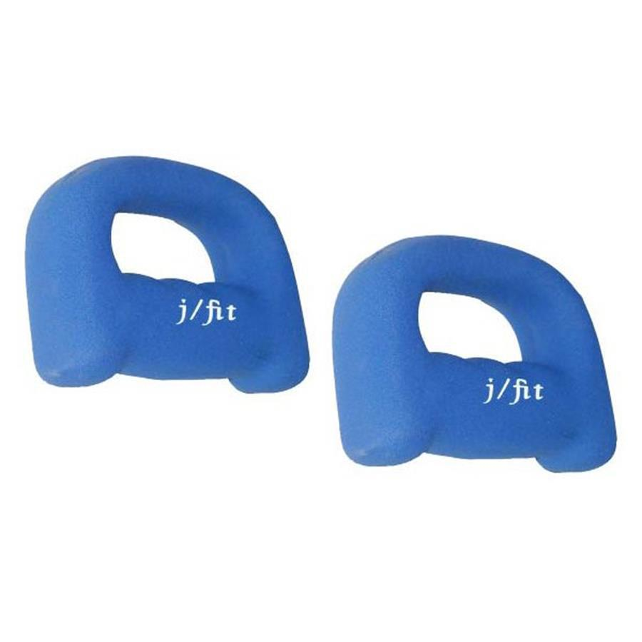 J FIT Set of Two 8-lb Blue Fixed-Weight Dumbbells