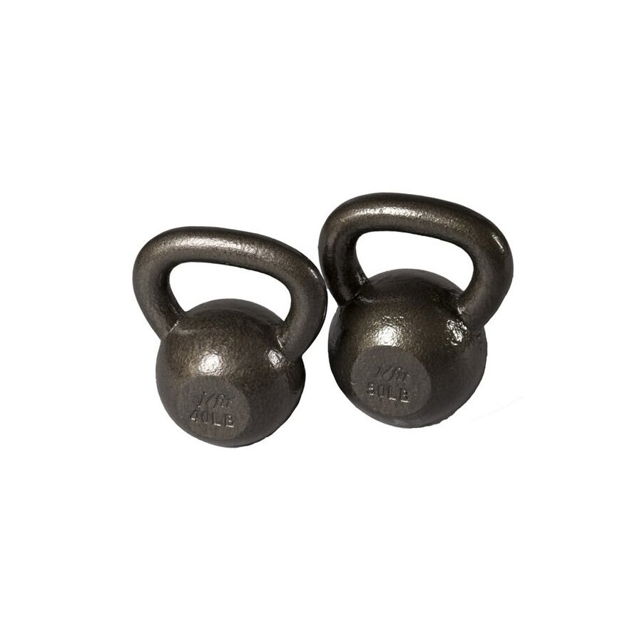 J FIT Gray 90 lbs Fixed-Weight Kettlebell