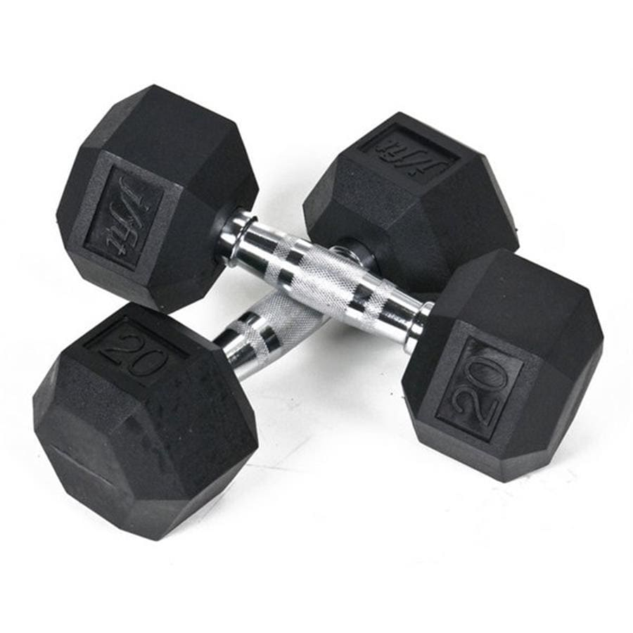 J FIT Set of Two 40-lb Black Fixed-Weight Dumbbells