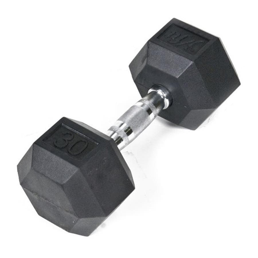 J FIT 30-lb Black Fixed-Weight Dumbbell