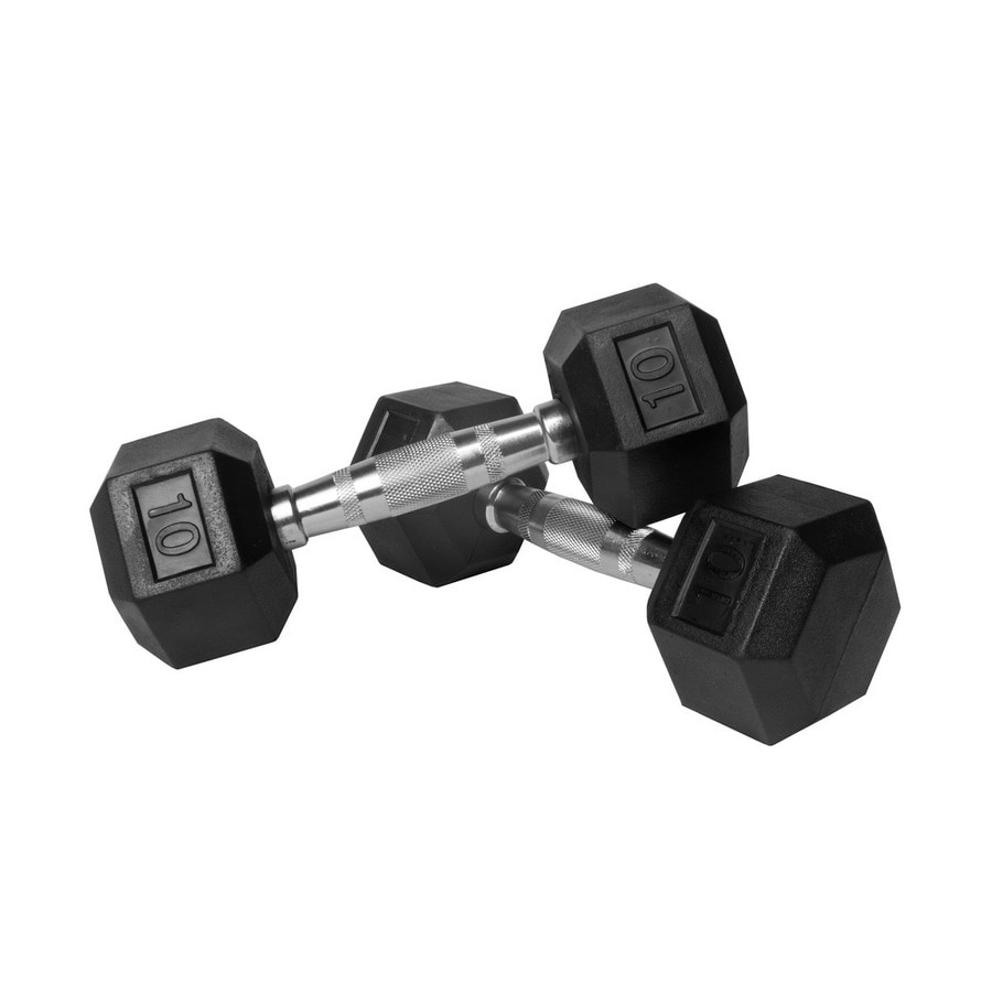 Xmark Fitness 20 -lb Chrome Fixed-Weight Dumbbell Set