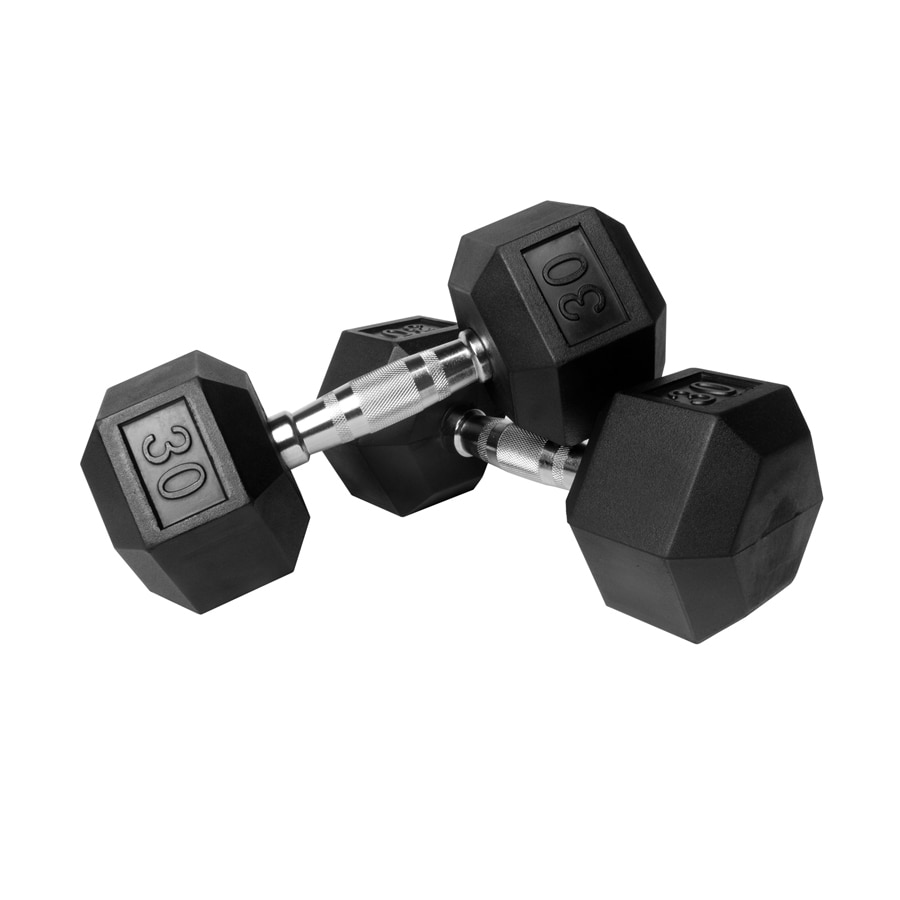 Xmark Fitness 60 -lb Chrome Fixed-Weight Dumbbell Set