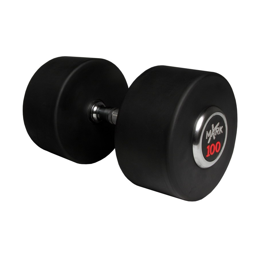 Xmark Fitness 100-lb Chrome Fixed-Weight Dumbbell