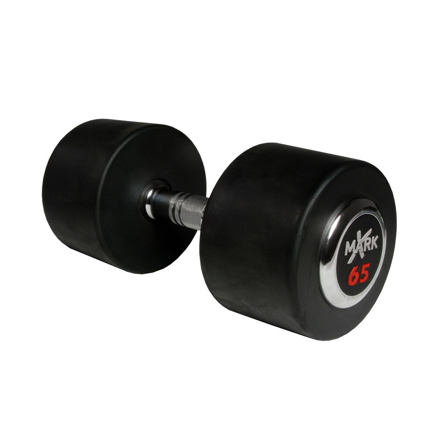 Xmark Fitness 65-lb Chrome Fixed-Weight Dumbbell