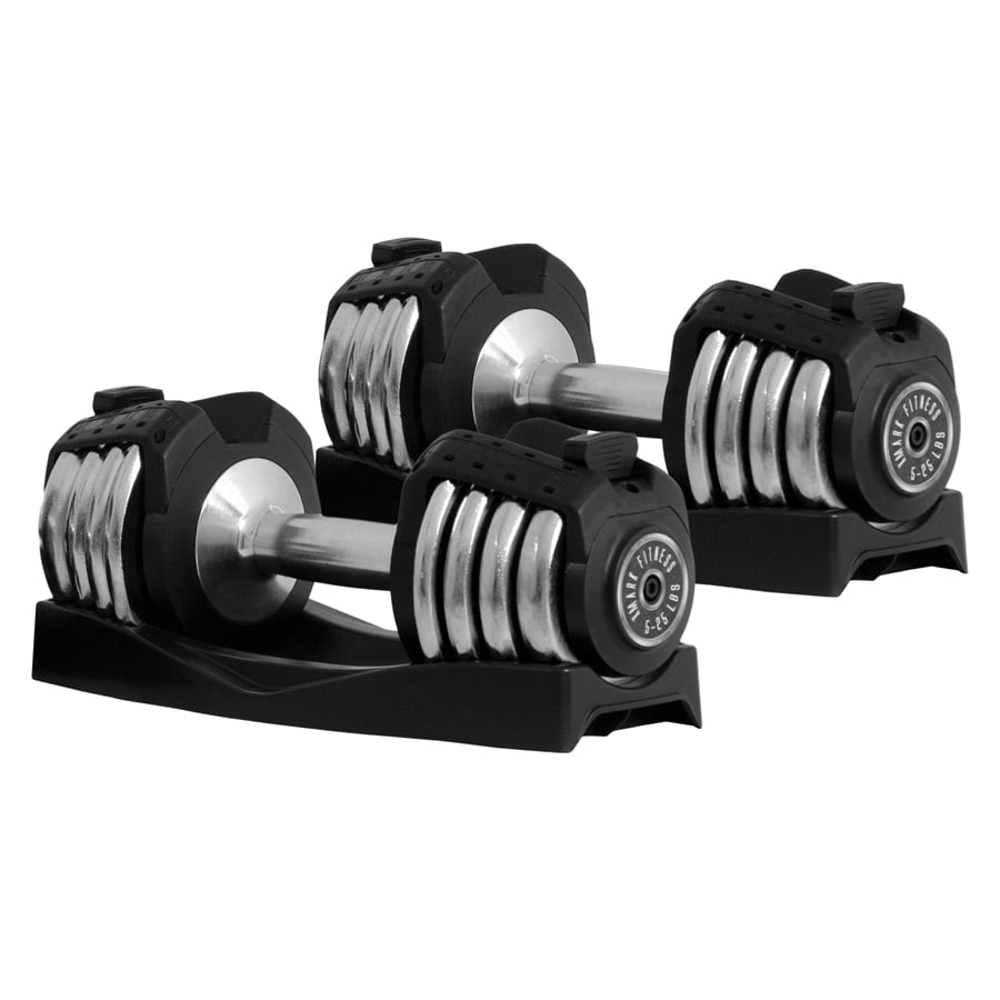 Xmark Fitness 50 -lb Chrome Adjustable Dumbbell Set