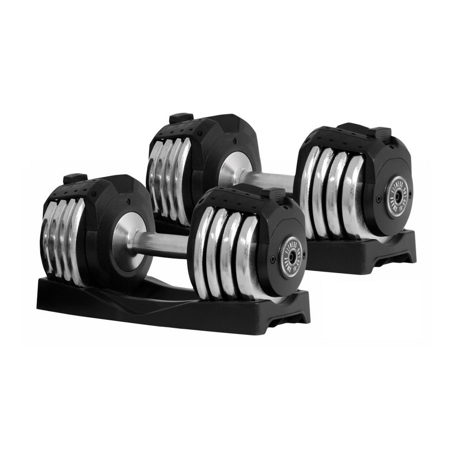 Xmark Fitness 100 -lb Chrome Adjustable Dumbell Set