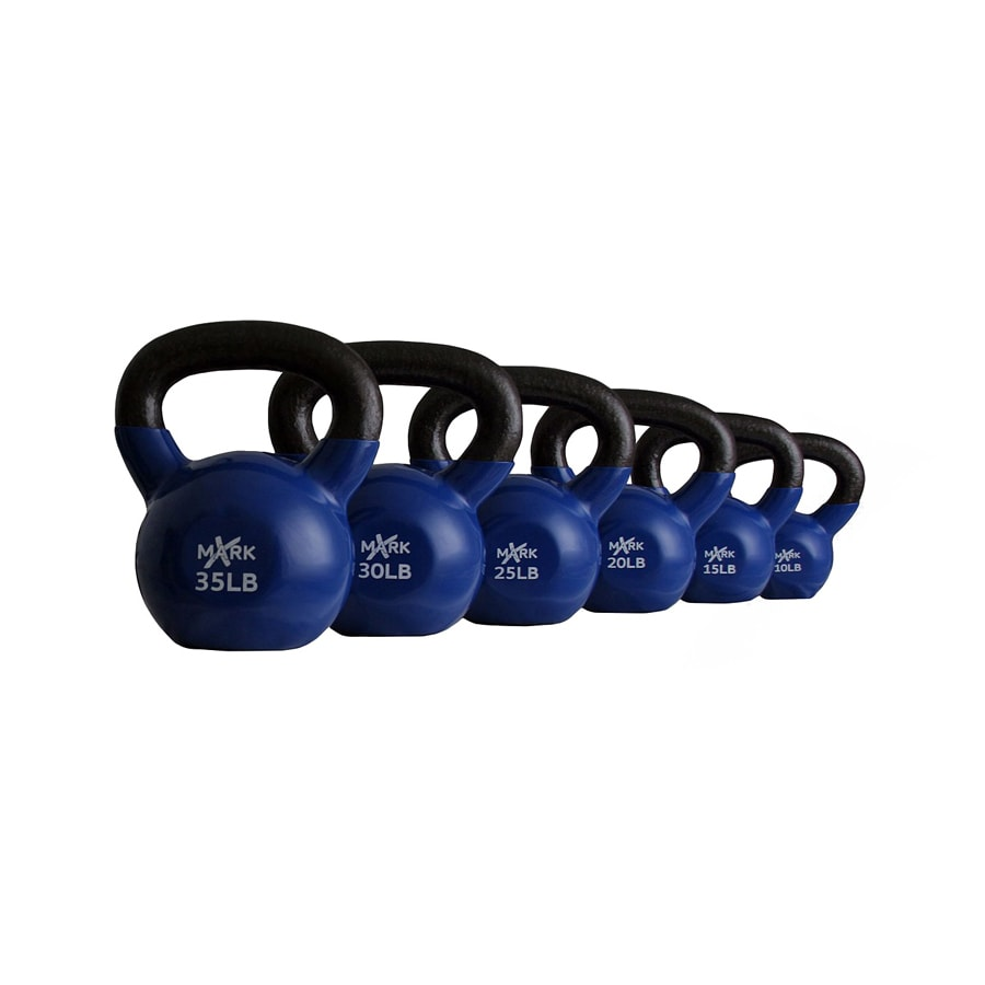 Xmark Fitness Multicolor 135 lbs Fixed-Weight Kettlebell