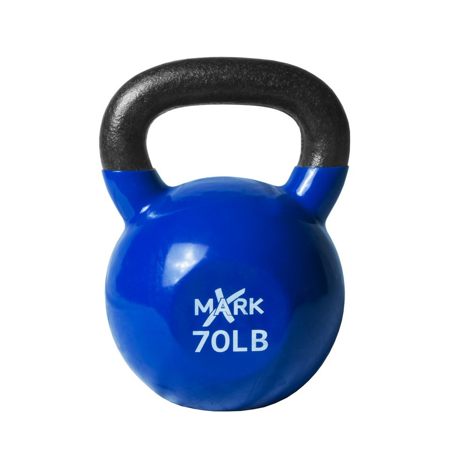 Xmark Fitness 70 lbs Fixed-Weight Kettlebell